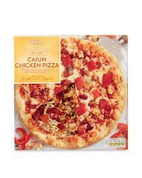 cuisine pizza thin crispy cajun chicken pizza aldi uk