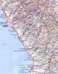 lima map maps of peru