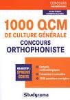 1000 QCM de culture générale concours orthophoniste - Livre ...