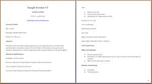 College Grad Resume Sample 28 Curriculum Vitae Sample For College Students 5