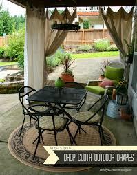 Outdoor Patio Curtain Drop Cloth Outdoor Curtains Hometalk