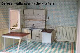 rave and review lifestyle travel and shopping blog from seattle lundby kitchen wallpaper before