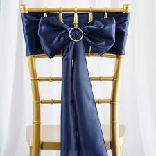 navy blue chair sashes 25pcs satin chair sashes tie bows catering wedding party