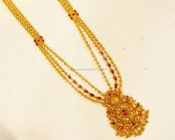 gold necklace gundu pacchi chain necklace pearl gundu