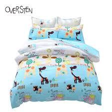 Teal Single Duvet Cover Oversten Cartoon Style Double Single Bedding Set Queen Twin King