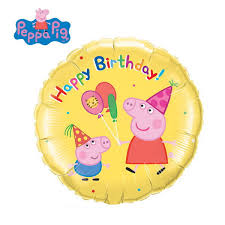 peppa pig birthday qualatex 18 inch peppa pig birthday from category character