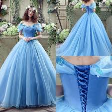 cheap tulle 2016 cheap cinderella graceful blue tulle gown
