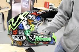 custom motocross helmet checking in on ap designs