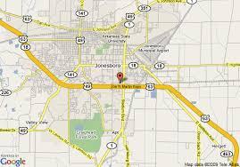 map of jonesboro ar map of quality suites jonesboro jonesboro