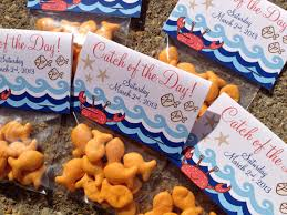 nautical gift bags nautical themed catch of the day folded favor tag
