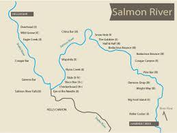 China River Map by Salmon River Custom Rafting Trip Meridian Id H2o Idaho