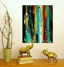modern home decor art modern wall decor abstract paintings teal