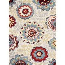 Floral Area Rug Floral World Rug Gallery Area Rugs Rugs The Home Depot