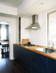 blue kitchen cabinets with wood countertops 7 kitchen updates joel bray hh se10 blue cabinets wood