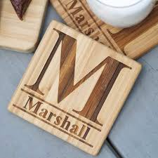 engraved cutting boards standard monogram engraved cutting board with free coasters