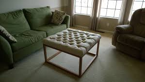 ana white upholstered coffee table ottoman diy projects