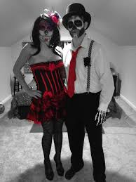 couples day of the dead halloween costume halloween skeleton