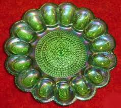 glass egg plate indiana glass green carnival glass egg plate egg plate obsession