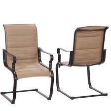 Sling Back Patio Chairs Sling Patio Furniture Patio Furniture Outdoors The Home Depot