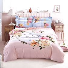 King Size Brushed Cotton Duvet Covers Pink Bedding Set Picture More Detailed Picture About Beautiful