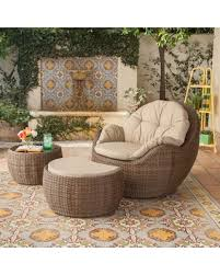 Wicker Patio Conversation Sets Here U0027s A Great Price On Outdoor Royal Garden Greta Wicker 3 Piece