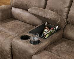 oberson gunsmoke double reclining loveseat with console from