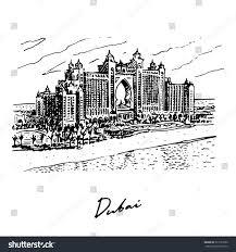 hotel atlantis hotel atlantis palm dubai uae vector stock vector 323153780