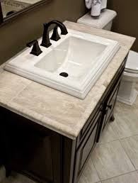 bathroom tile countertop ideas bathroom countertop with though sinks of