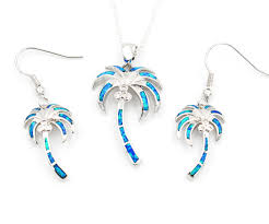 opal jewelry necklace images Palm tree fire opal jewelry set necklace and earrings that jpg
