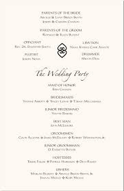wedding program wording wedding program layout exles hnc