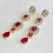 danglers earrings design aatman earrings buy gold plated ethnic earrings designs