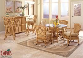 capris furniture model 667 palm island caster dining room set
