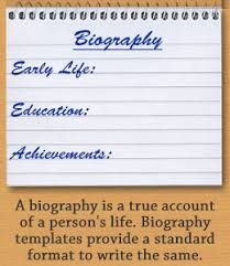 biography templates for students