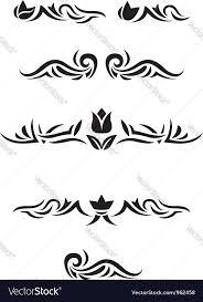 Luxurious Decorative Element Decorative Design Elements Royalty Free Vector Image