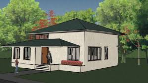 home design mode of house design with dark green roof colour and