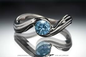 palladium jewelry 14k palladium white gold engagement ring with aquamarine