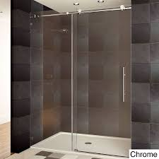 How To Install Sliding Shower Doors This Lesscare Ultra C Frameless Shower Door Is Made Of High