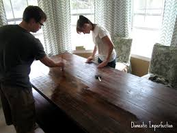 10 ft farmhouse table diy farmhouse table and bench domestic imperfection