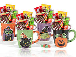 gift mugs with candy assorted mugs filled with brand name candies wrapped