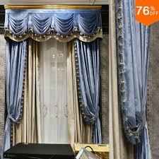 Blue Valance Curtains Aliexpress Com Buy Grey Blue Sky Blue Shallow Bed Room Hook