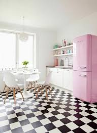 pink kitchen ideas kitchen style single wall pink kitchen with multi chess floor and