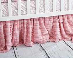 pink dust ruffle etsy