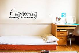 minimalist dorm room engineering degree dorm wall decals decorations bedroom boarding