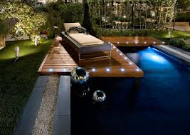 lighting around pool deck lighting ideas wooden pool deck lighting and wall led string in the