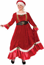 mrs claus costumes plus size women s velvet classic mrs claus costume candy