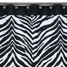 Rhinestone Shower Curtain Hooks Zebra Shower Curtain Black White Creative Bath Target