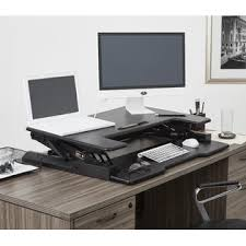 Office Star Computer Desk by Office Star Multiposition Adjustable Desk Riser With Dual Lift Black