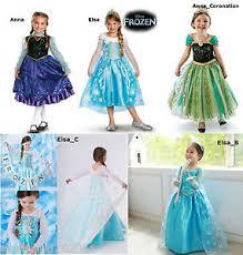Anna Frozen Costume Princess Anna Frozen Disney Elsa Dressup Costume Dress Ball Gown