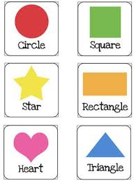 free printable large shapes 46 best flash cards posters and displays images on pinterest