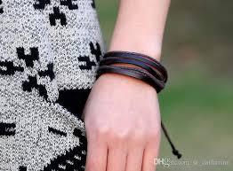 wrap wrist bracelet images 2018 genuine leather mens bracelets wrist strap dynamic rope wrap jpg